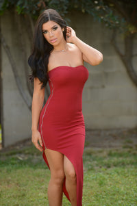 Alana Dress - Burgundy