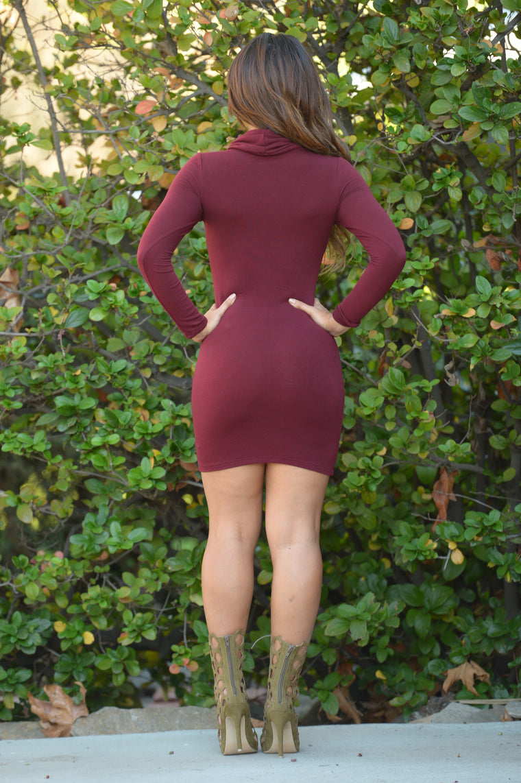 Sara Dress - Burgundy