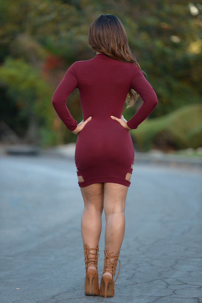 Texas Hold Em' Dress - Burgundy