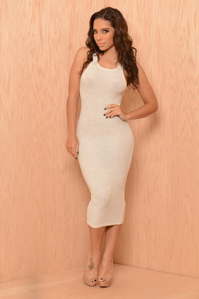 Darlene Dress - Light Grey
