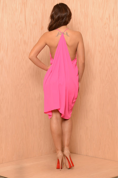 Day Shift Dress - Fuchsia