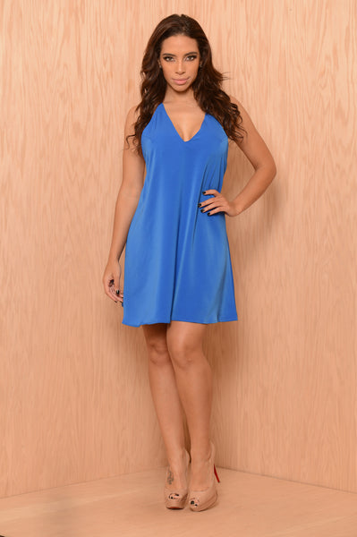 Tegan Dress - Royal