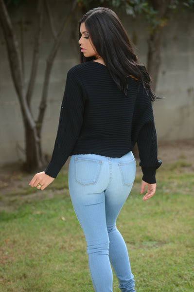 Off Balance Sweater - Black