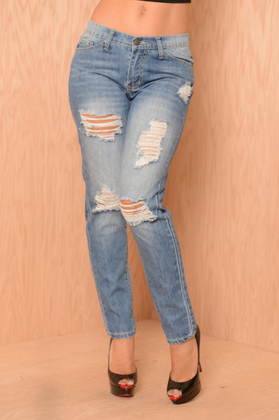 Patrick Boyfriend Jeans - Light