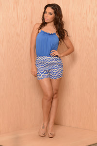 Conquest Romper - Blue