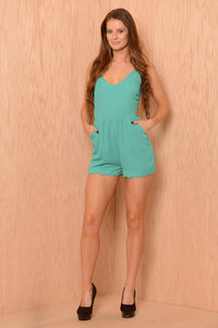 Raise the Roof Romper - Jade