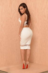 See Right Through It Skirt - Ivory