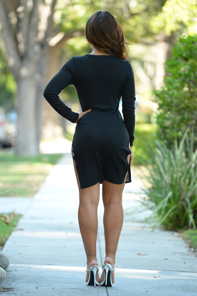 Heather V Dress - Black