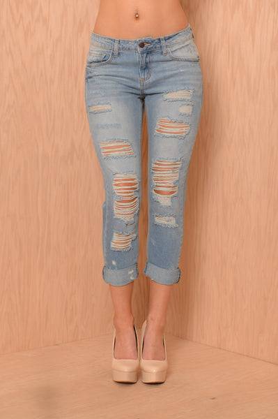 Theo Boyfriend Jeans - Light