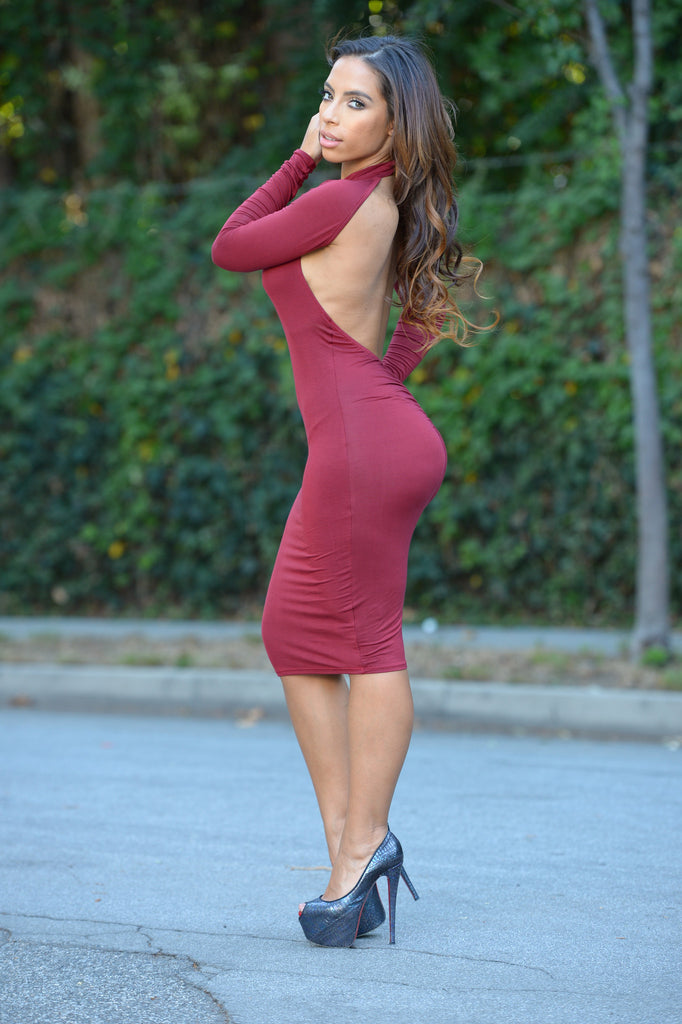 Donna Dress - Burgundy