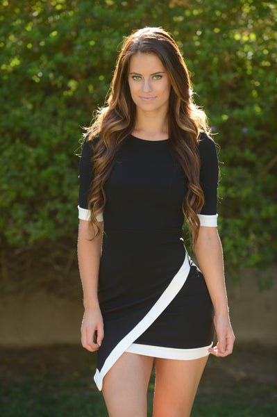 Asymmetrical Lucy Dress - Black