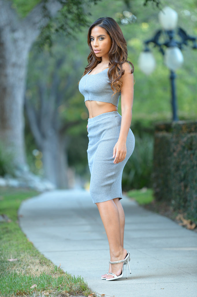 Sophie Skirt - Heather Grey
