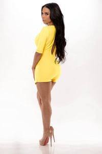 Take the Plunge Romper - Yellow