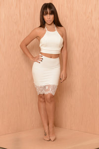 Franchesca Skirt - Ivory