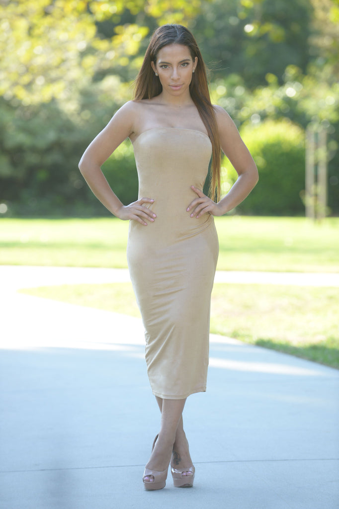 Suave Dress - Taupe