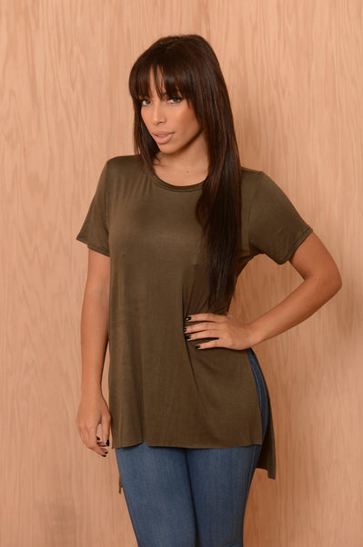Just Sunshine Tee - Olive