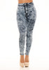 Acid Wash Ankle Skinnies - Blue