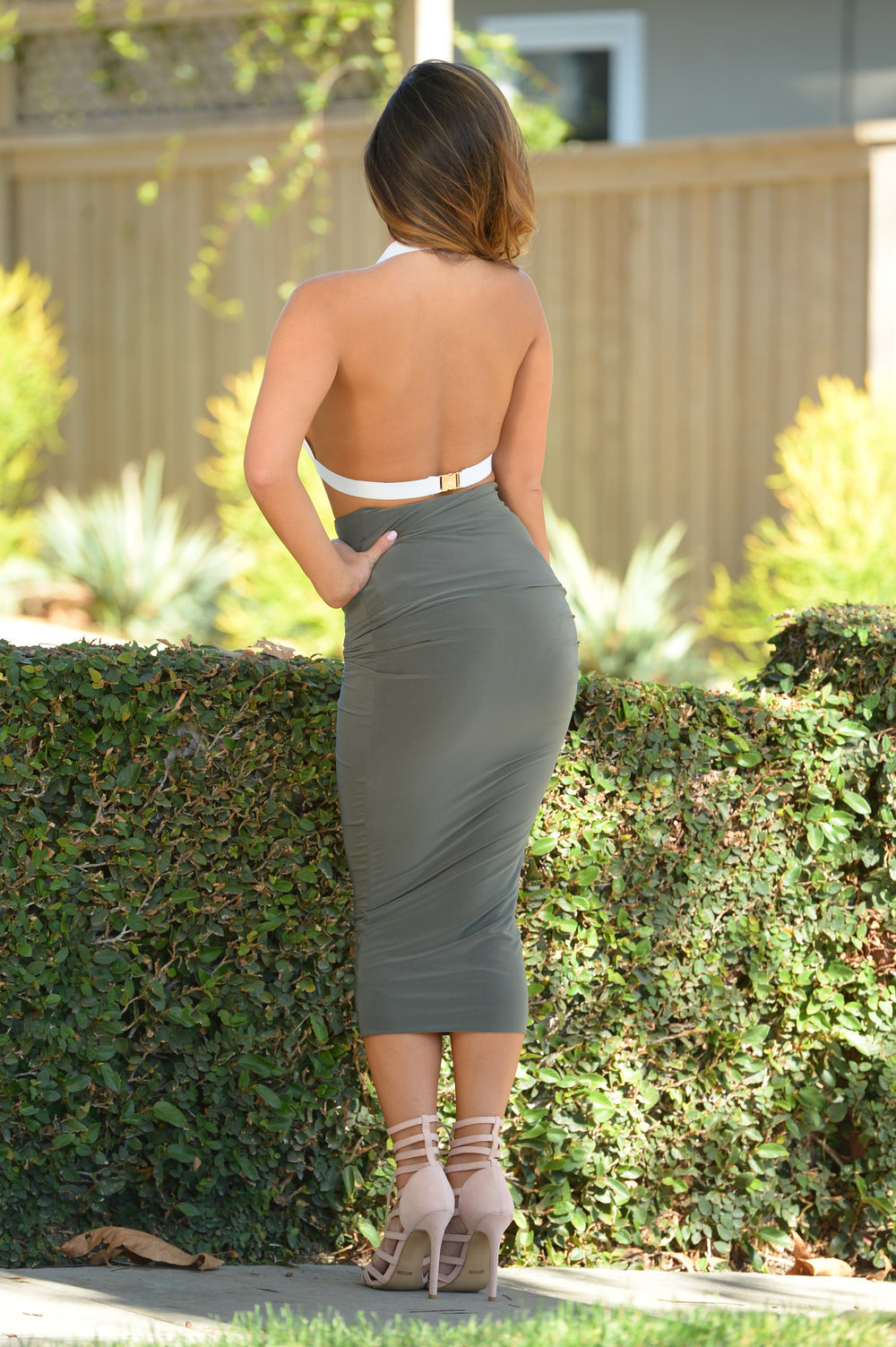 Across the Universe Skirt - Olive