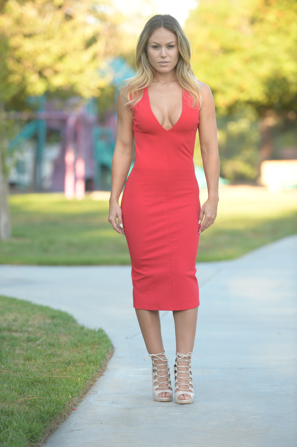 Fiona Dress - Red