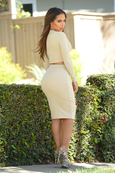 Roxbury Skirt - Nude