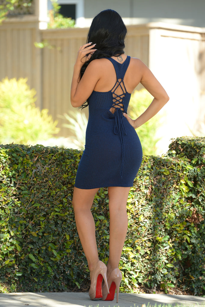 Material Girl Dress - Navy