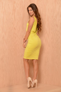 Claudia Dress - Lemon