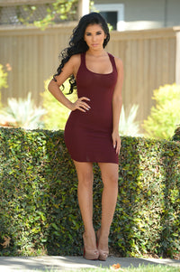 Material Girl Dress - Burgundy
