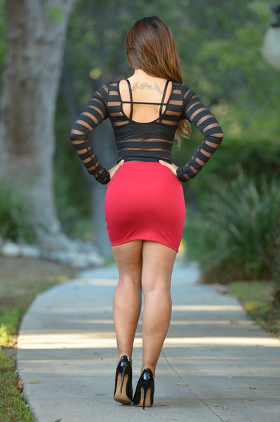 Bella Skirt - Red