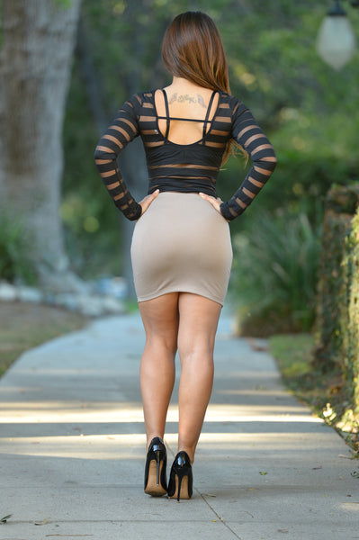 Bella Skirt - Mocha