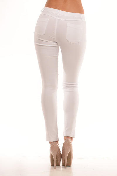 Midrise Pants - White