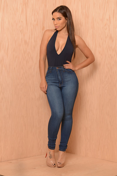 Bare Minimum Bodysuit - Navy