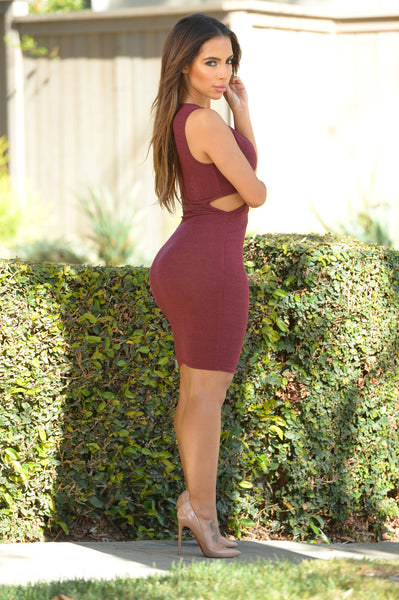 Good Girl Gone Bad Dress - Burgundy