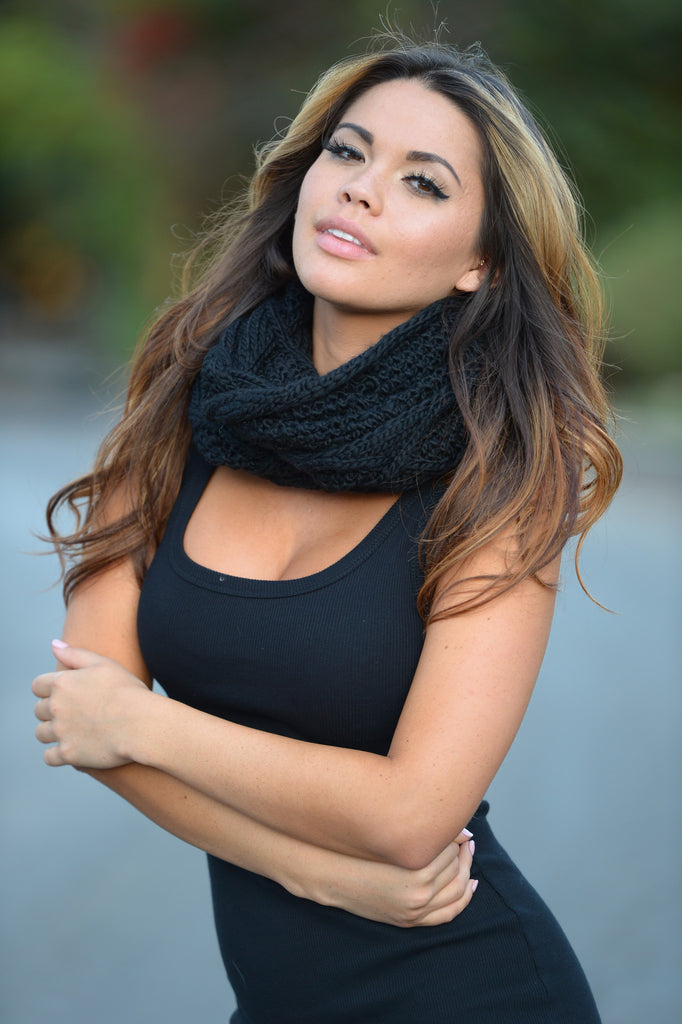 Diamond in the Rough Scarf - Black