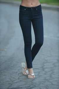 "9"" Rise Ankle Skinny Jeans - Black Angle 4"