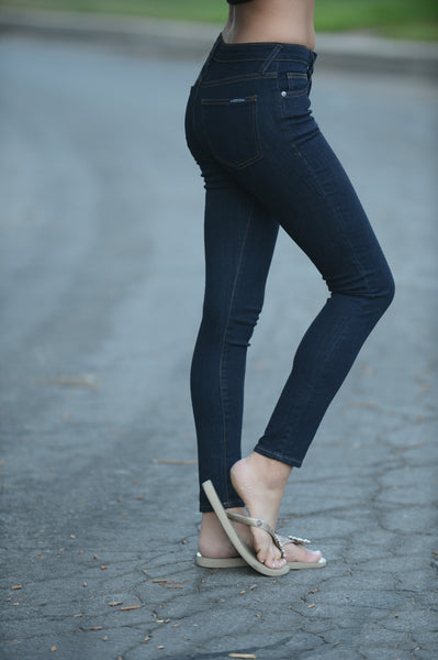 "9"" Rise Ankle Skinny Jeans"