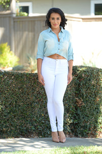 Billie Jean Top - Light Blue Wash