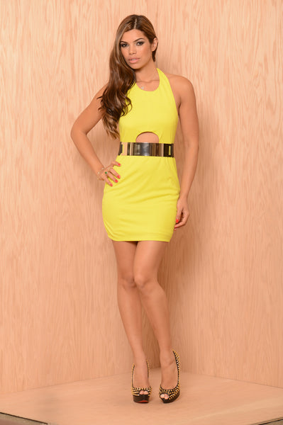 Mimi Dress - Lemon
