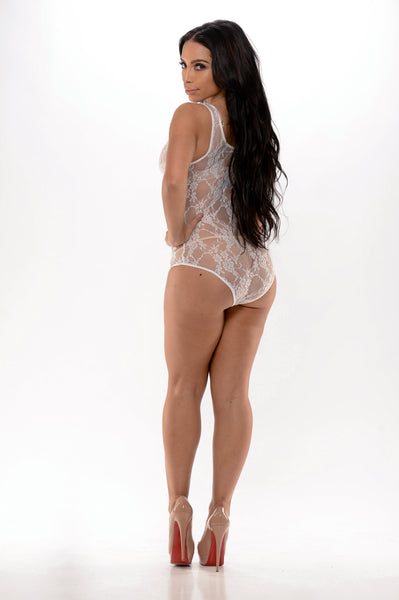 Unconditional Lace Bodysuit - White