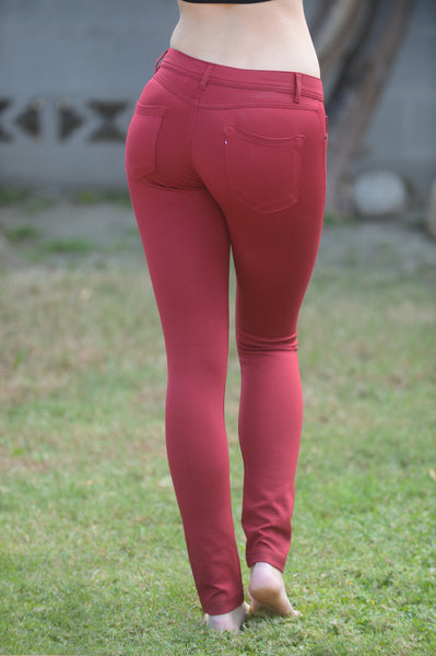 Essential Pants - Burgundy
