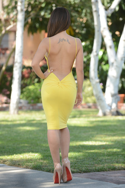 Alexandria Dress - Yellow