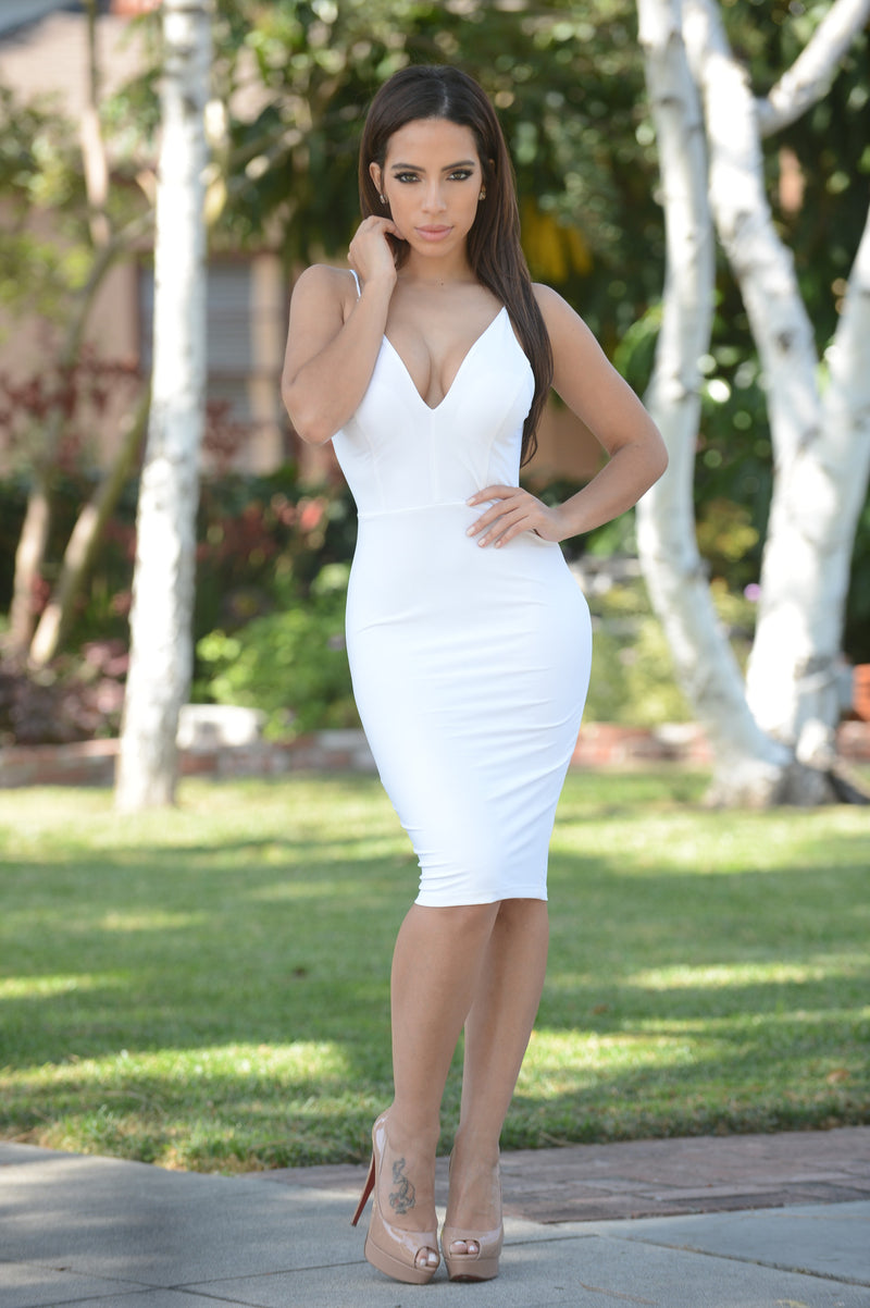 Alexandria Dress - White