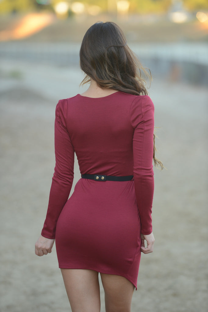 Severine Dress - Burgundy