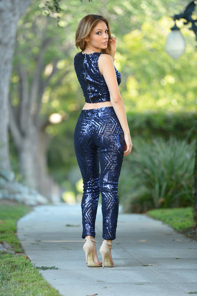 Dazzle Pants - Navy