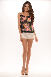 Laced Butterfly Tank - Navy