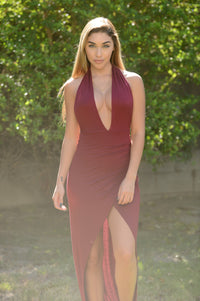 Marilyn Maxi Dress - Burgundy