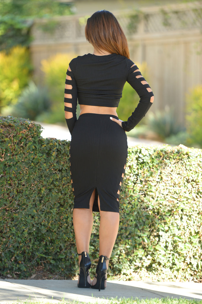Piece of Me Skirt - Black
