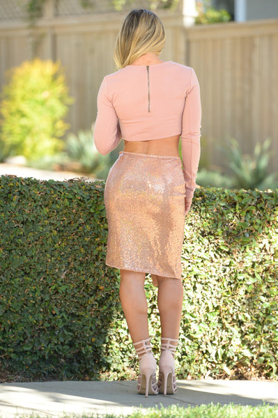 Glam Skirt - Rose