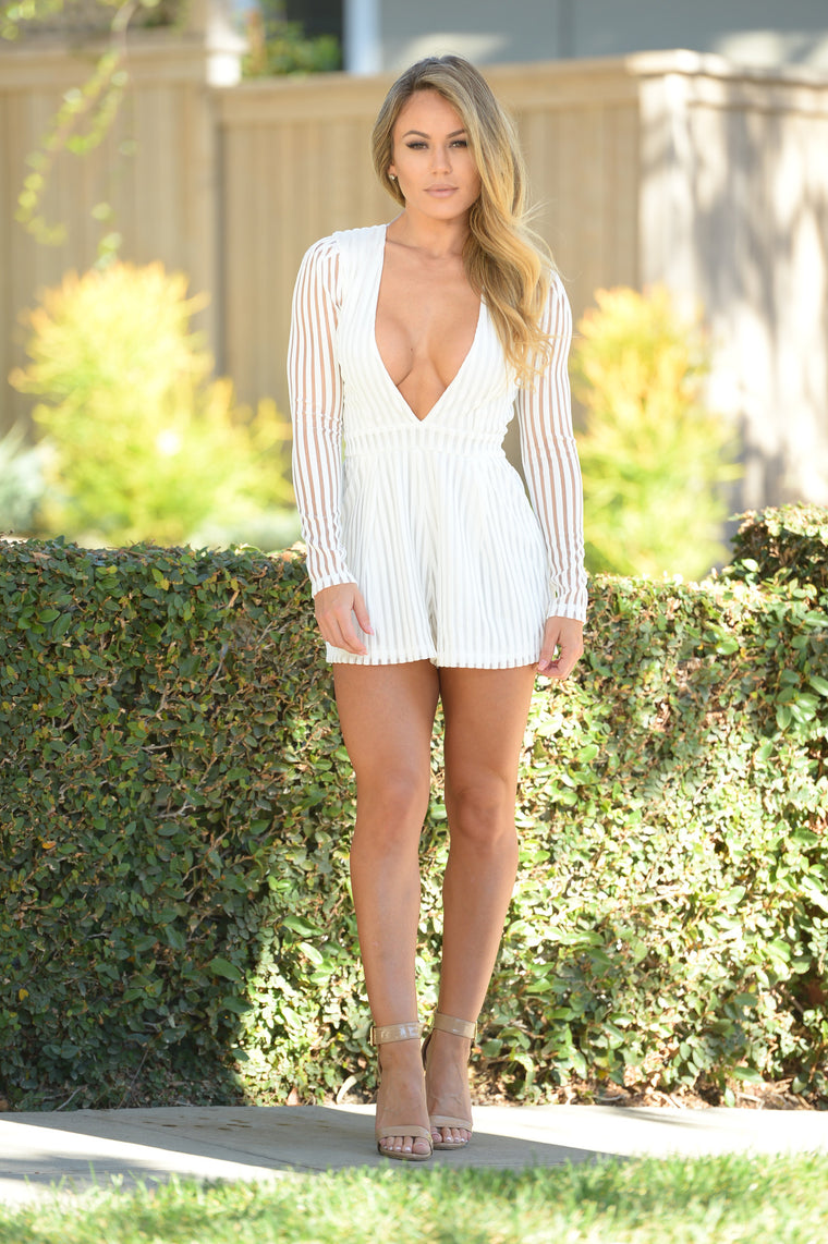 Spy Romper - White