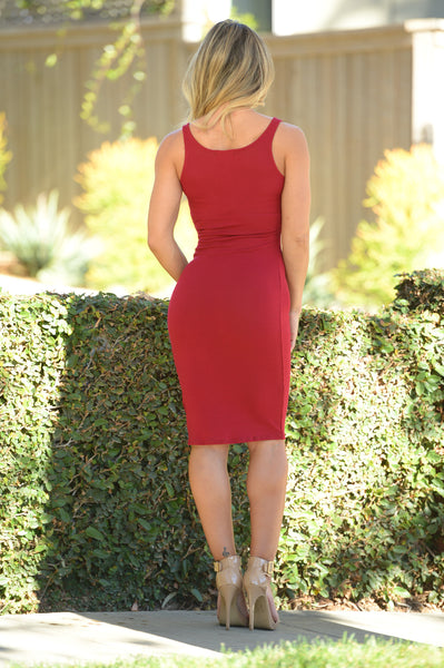 Isabella Dress - Burgundy