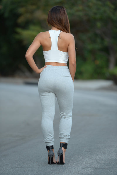 Partition Joggers - Heather Grey